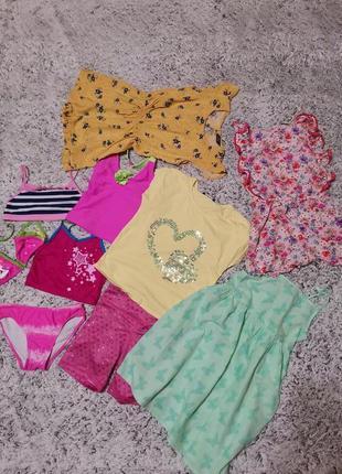 Пакет летней одежды на 7-8 лет, ромпер 10 шт