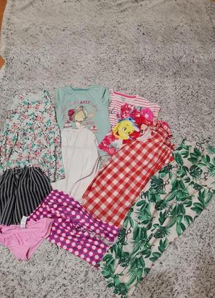 Пакет летней одежды на 4-5 лет, комбинезон , 10 шт