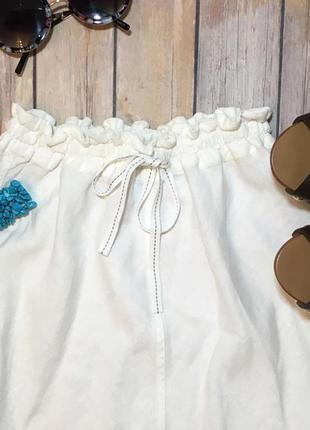 Белая юбка лен с вискозой