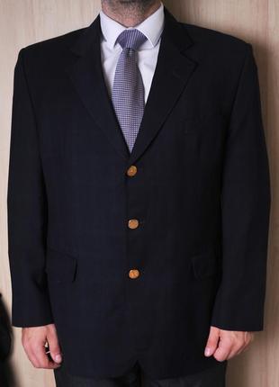 "Легкий шерстяной темно синий пиджак ""daks"""