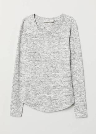 Меланжевый джемпер кофта с длинным рукавом