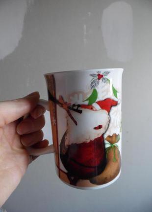 Чашка з санта клаусом