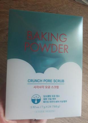 Скраб для очищения кожи лица с пищевой содой etude house bakin...