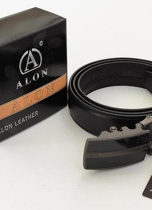 Мужской кожаный ремень alon отличный подарок
