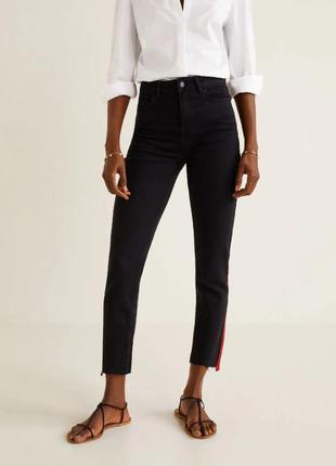 Черные джинсы mango с высокой посадкой, евр. 34, 36