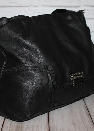 Большая кожаная сумка от tommy hilfiger 100% натуральная кожа
