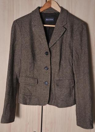 Шикарный  полу шерстяной  пиджак- жакет marc o polo . весна -о...