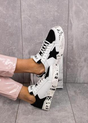 Женские кеды кроссовки кожаные
