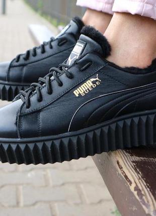Женские ботинки кожаные зимние черные nev-men p14