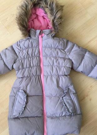 Куртка -пальто на девочку (удлинённая) (евро-зима) 98 см TM Takko