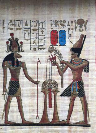 Миниатюра на папирусе