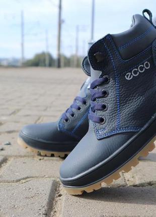 Детские ботинки кожаные зимние синие crossav z 37