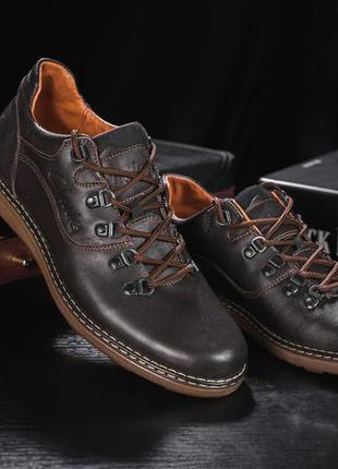 Мужские повседневная обувь кожаные весна/осень коричневые yuve...