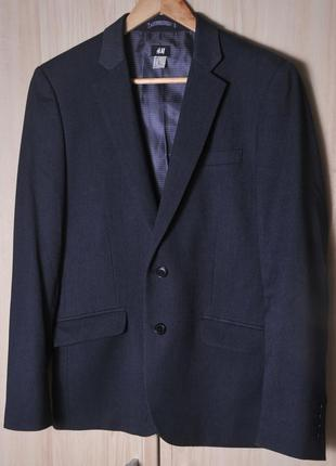 """Тонкий  темно серый пиджак """" h&m"""""""