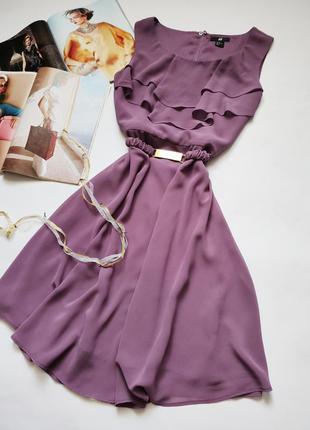 Воздушное элегантное платье h&m распродажа акция