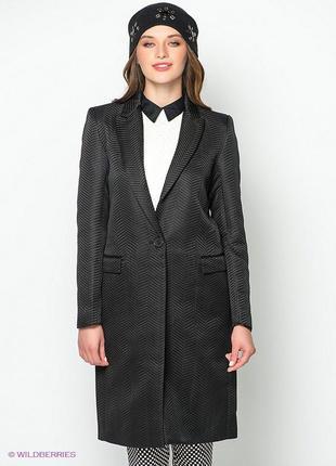 Kira plastinina стильное пальто тренчкот в составе шерсть ориг...
