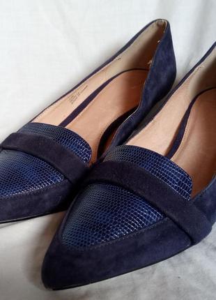 Туфли женские из замши