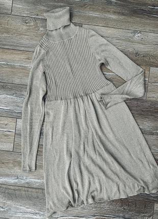 Очень красивое платье с люрексом от zara