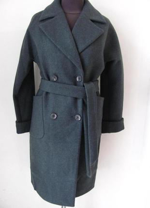 Пальто женское кашемировое oversize, демисезонное, два кармана...