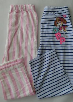 Набор 2 ед. пижама пижамные штаны байка-трикотаж primark англи...