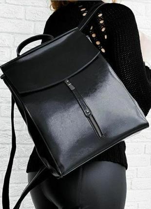 Женский кожаный рюкзак шкіряний жіночий сумка трансформер