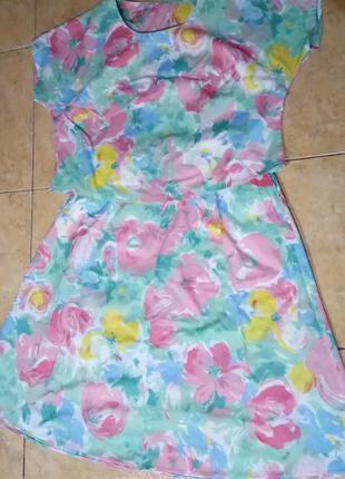 Летний костюм юбка и кофта большой размер