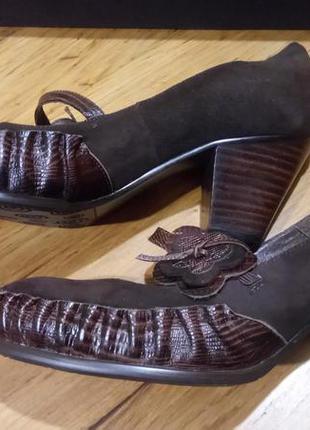Шикарные кожаные туфли