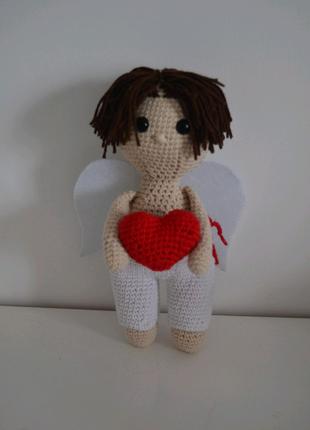 Игрушка ангел Валентин ручная работа