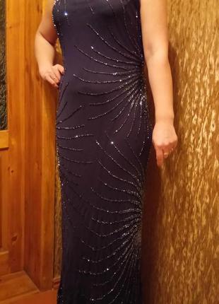 Вечернее платье пр-во индия  100 % шелк