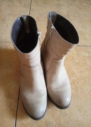 Добротные сапоги ботинки деми 100 % кожа