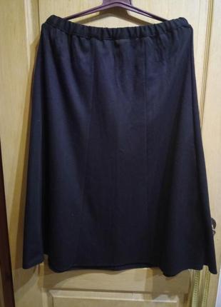 Трикотажная черная юбка