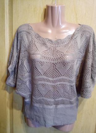 Кружевной свитер кофта