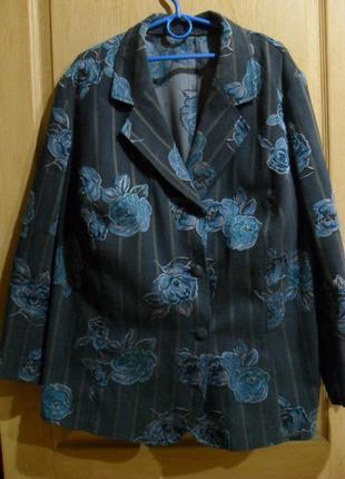 Элегантный пиджак жакет большого размера