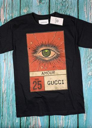 Черная футболка gucci eye• ориг бирки• топ качество• футболка ...