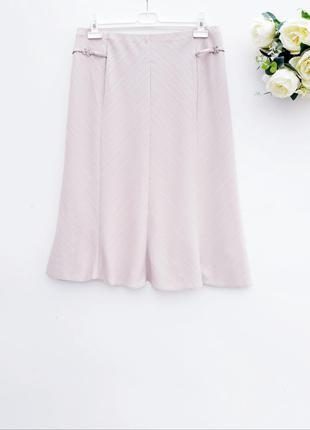 Нюдовая юбка миди качественная юбочка на лето большой размер