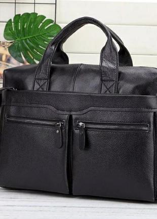 Кожаный мужской портфель из натуральной кожи чоловічий шкіряни...
