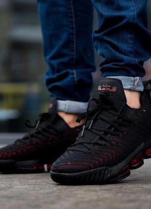 Nike  lebron black red, мужские кроссовки найк леброн