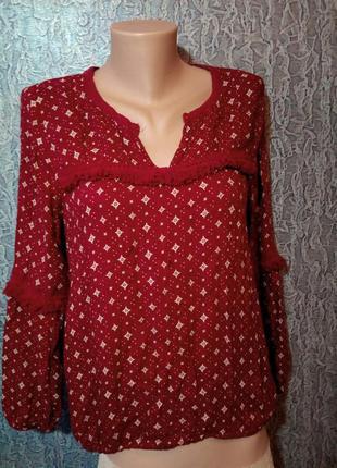 Мягусенькая кофточка, блузка с бахромой.