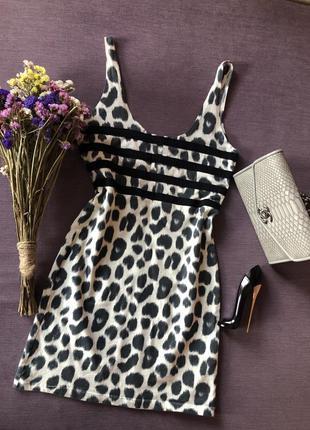 Актуальный леопардовый сарафан , платье пофигуре motel