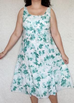 Очаровательное хлопковое платье на подкладке из хлопка