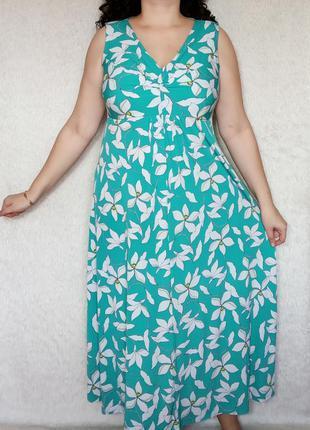 Нежное цветочное платье 20р