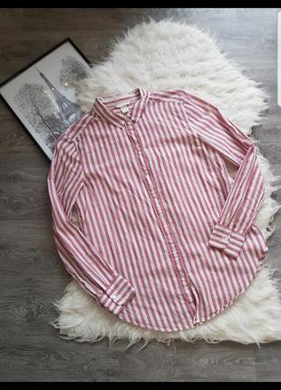 🔥 sale 🔥коттоновая стильная рубашка в идеальном состоянии 💟 h&m 💟