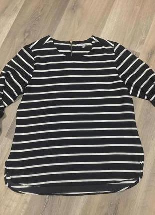 Модная блуза - кофточка, в полоску черно-белая.48\46 р peacocks