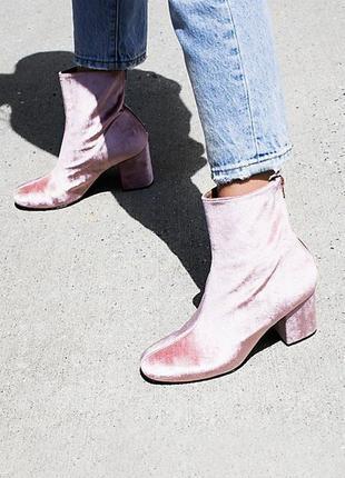 Стильные бархатные ботинки miss selfridge 38 р. туфли, черевик...