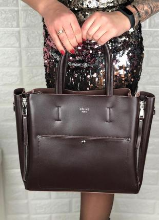 Женская кожаная сумка в стиле celine селин  в расцветках