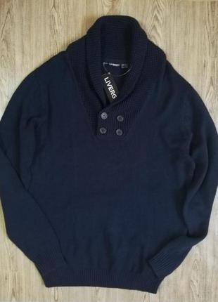 Прекрасный мужской свитер джемпер пуловер кофта вязаная livergy