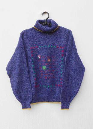 Шикарный осенний зимний вязаный шерстяной костюм свитер + юбка...