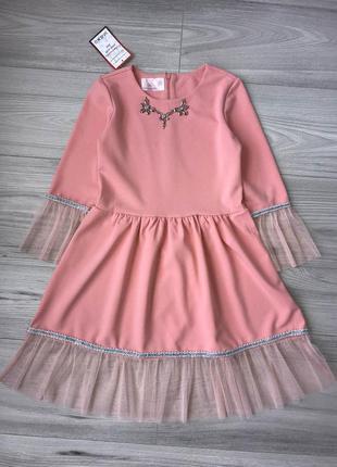 Одену коллектив. стильное нарядное платье на рост 116-152см пе...