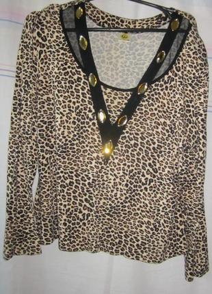 Блузка женская леопардовая.