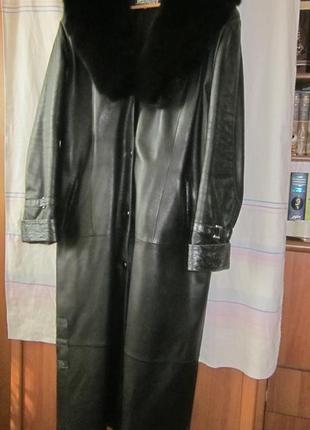 Пальто женское кожаное, утепленное 5xl